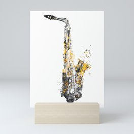Saxophone music art #saxophone Mini Art Print