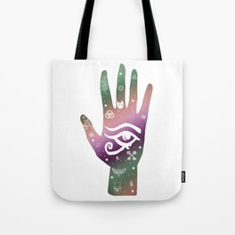 Occult Hand, Hand Art, All Seeing Eye Tote Bag