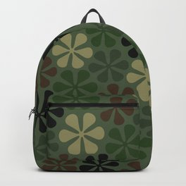 Abstract Flower Camouflage Backpack