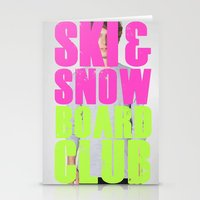 snowboard Stationery Cards featuring WHS Ski and Snowboard Club by slothcats