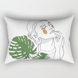 Green Time in the Meantime - 1 Rectangular Pillow