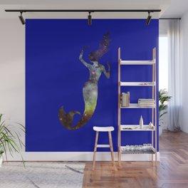 Galaxy Mermaid 2 (Navy) Wall Mural