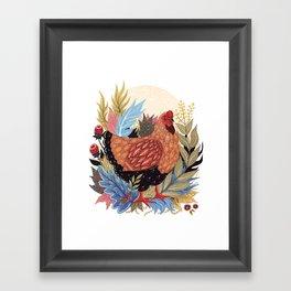 Spring Chicken Framed Art Print