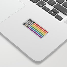 Lightsaber rainbow Sticker