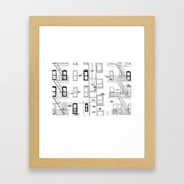 Building Front Framed Art Print