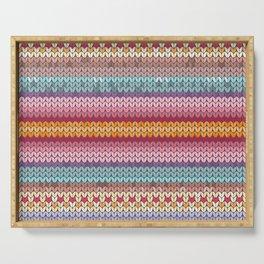 knitting pattern Serving Tray