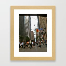 Bustle Framed Art Print