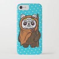 ewok iPhone & iPod Cases featuring Sugar Skull Ewok by Team Rapscallion