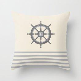 AFE Gray Helm Wheel Throw Pillow