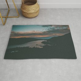 Columbia River Gorge Sunset Rug