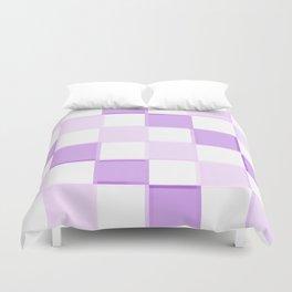 Lavender Purple checkerboarD Duvet Cover