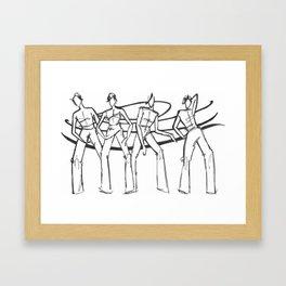 People in Swirls! Framed Art Print