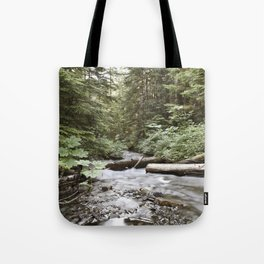 And The Water Gorged The Wood Tote Bag