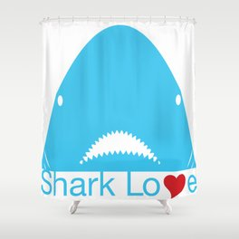 Shark Love Shower Curtain