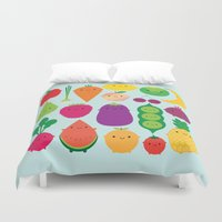 marceline Duvet Covers featuring 5 A Day by Marceline Smith