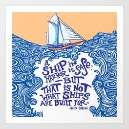 To Be at Sea Art Print