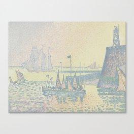 Evening (The Jetty of Vlissingen) (Abend (La jetée de Flessingue)) from the journal Pan (31 July 189 Canvas Print