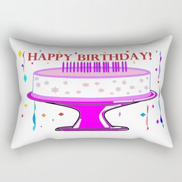 A Happy Birthday Cake for a Girl Rectangular Pillow