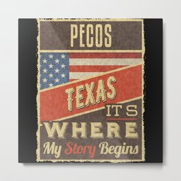 Pecos Texas Metal Print