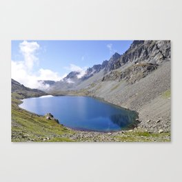Alps Lake and Mountain Landscape Canvas Print