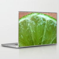 lime green Laptop & iPad Skins featuring Lime Green and Fresh by BluedarkArt