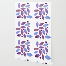 Leaves and berries watercolour Wallpaper