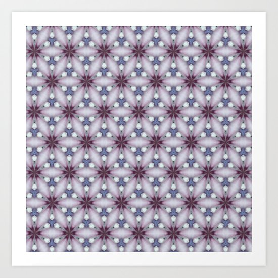Flowers and Strass Art Print