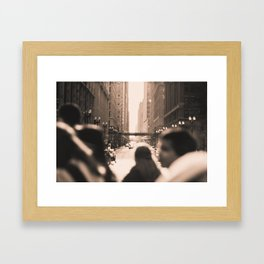 Crosswalks  Framed Art Print