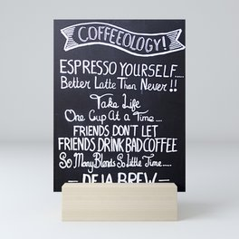 Coffeeology Mini Art Print