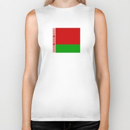 flag of belarus-belarusian,Minsk,Homyel,russia,snow,cold,chess,bear,rus,wheat,europe,easthern europe Biker Tank