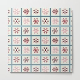 Snowflakes light Metal Print
