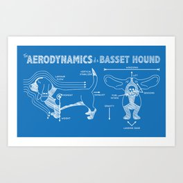 The Aerodynamics of a Basset Hound Art Print