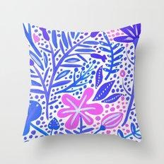 Garden – Indigo Palette Throw Pillow