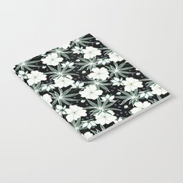 Hawaii floral on dark ground Notebook