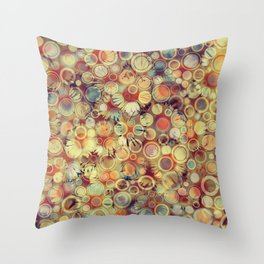 Dots on Flowers Throw Pillow