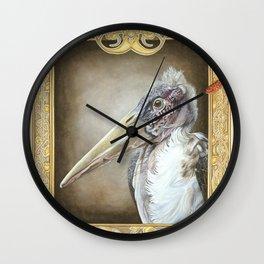 Grotesque - Marabou Stork Wall Clock