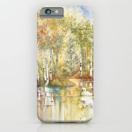Lazy Day on Swan Lake iPhone Case