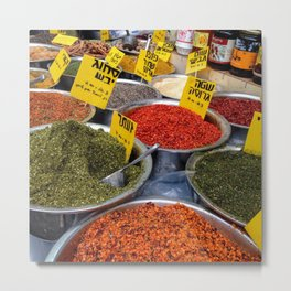 Spices in Machne Yehuda Metal Print