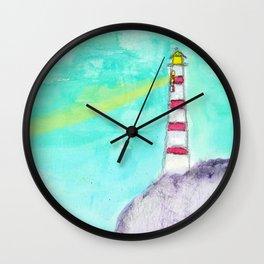 Lighthouse Mermaid, Oh Mermaids Wall Clock