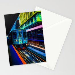 Brown Line Approaching Stationery Cards