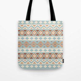 Aztec Essence Ptn IIIb Blue Crm Terracottas Tote Bag
