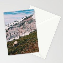Marmot at Mt. Rainier Stationery Cards