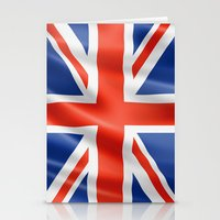 british flag Stationery Cards featuring UK / British waving flag by GoodGoods