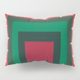 Red & Green Squares Pillow Sham
