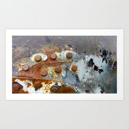 Rusty Bolts Art Print
