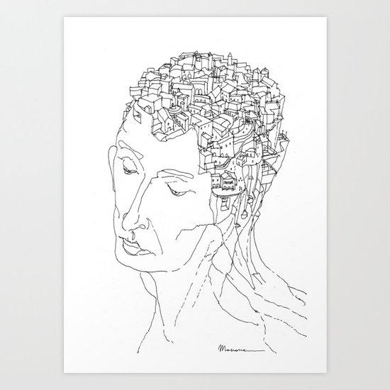 La Citta' Dentro Art Print