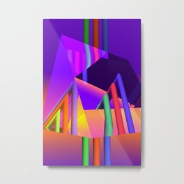 prism and refraction -2- Metal Print
