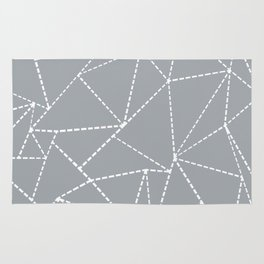 Abstract Dotted Lines Grey Rug