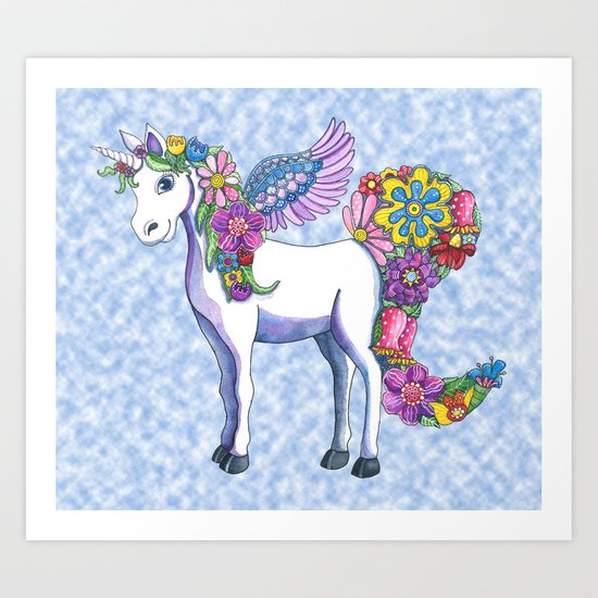 Madeline the Magic Unicorn 2 Art Print