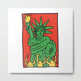 Statue of Liberty Keith Haring Metal Print